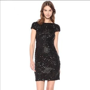Calvin Klein Sequin Embroidered Cowl Back Dress